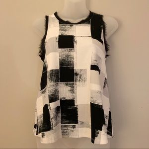 Anthropologie Postage Stamp Abstract Print Tank